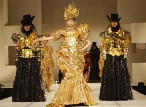 million dollar garments made of gold coins in tokyo